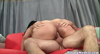 Lovely bbw rides cock after oral pleasuring