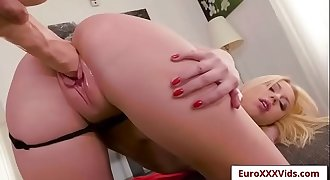 Euro XXX Party - Kira Gets Stuffed with Kira Thorn sex party video-02